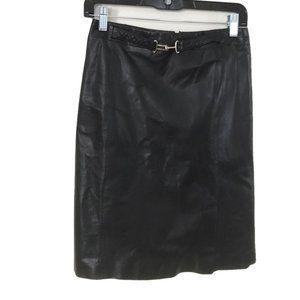 Ann Taylor 100% Leather Pencil Skirt 4